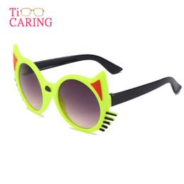 Frames Glasses For Girls Australia - Cat Eye Designer Sunglasses for Children Fashion Girl Boy Cute Sun glass Kids Gradient Lovely Eyewear