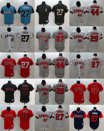 0fe67520e7c 2018 Flexbase Los Angeles Angels  27 Mike Trout Baseball Jersey White Red  Grey Cream Beige Cool Base Stitched Jerseys