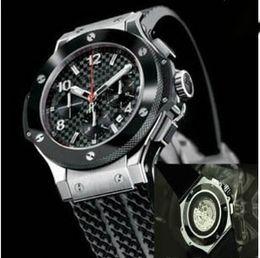 Wholesale Fashion rose Gold Silver rubber strap autoamtic movement Mechanical diamond Men Dress mens glass back men Watches Black Wristwatches watch