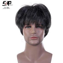$enCountryForm.capitalKeyWord Australia - 2019 Man Wig Middle Age Wig Man Short Hair Curly Hair Within Network Headgear Natural