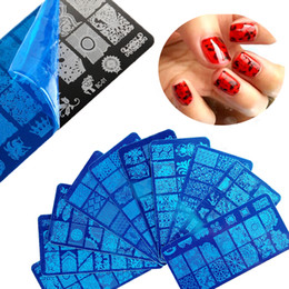 $enCountryForm.capitalKeyWord Australia - New Nail Art Template Nail Stamping Plates 6*12cm Stainless Steel Stamping Image Plate Manicure Stencil Tools 20 Styles