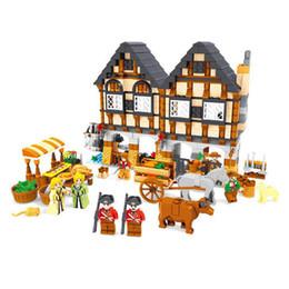 Boy Toy House UK - AUSINI 28001 Luxury Farm Holiday House Building Blocks Sets 884pcs Construction Bricks Boy Kids Toys
