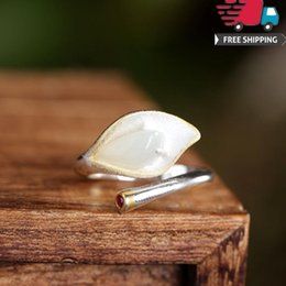 Women Jade Ring NZ - Top Jewelry Diamonds Rings 925 Silver Natural Hotan Jade Magnolia Gilt Technology Ring Woman Hatch Nation Atmosphere Quality Grace