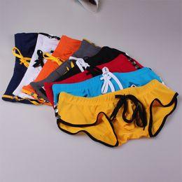 $enCountryForm.capitalKeyWord NZ - 2019 Clothing WJ Men's Swimwear Sexy Man Trunks Low Waist Pocket Fast Dry Board Shorts Man Beach Boxers Shorts Men Swimsuit