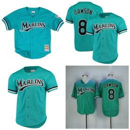 12b3381c6 Andre Dawson Jersey Florida Marlins Baseball Jerseys M N Stitched Top  Quality