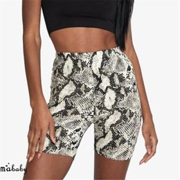 $enCountryForm.capitalKeyWord NZ - Women Casual High Elastic Waist Tight Fitness Slim Skinny Dancing Shorts Snake Print Exercise Shorts For Female Girls Teenager