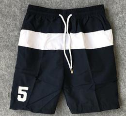 $enCountryForm.capitalKeyWord Australia - Limited 2019 Men Polo Beach Shorts Big Pony Print Number 5 Boys Summer Quick Dry Board Trunks Middle Striped Short Pants