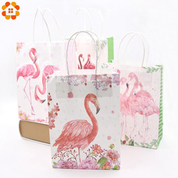 Candy Gifts Diy Australia - 8PCS DIY Unicorn Flamingo Paper Bags Baby Shower Birthday Unicorn Party Decoration Wedding Favors And Kids Gift Bag Supplies