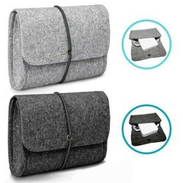power adapter bag NZ - Felt Sleeve Bag Pouch for CHARGER MOUSE Power Adapter Case Soft Bag Storage For Mac MacBook Air Pro Retina