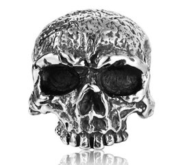 Punk Rings Australia - Free Shipping Mixed 5PCS PUNK gothic Gothic Lolita Skull Style Titanium steel Tisco ring Men Band Jewelry Bikers 08