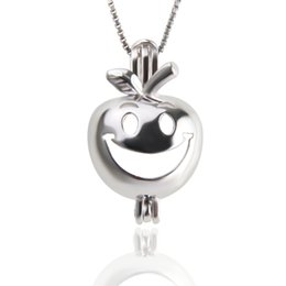 $enCountryForm.capitalKeyWord UK - Christmas Smile Apple Sterling Silver Cage Pendant Women Necklace Best Gift