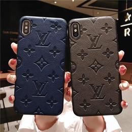 Magro monograma bumper phone case para iphone xs max / xr x 8/7/6 mais à prova de choque de proteção do corpo inteiro celular tampa traseira em Promoção
