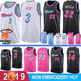 NCAA Dwyane Wade 3 Mens College Basketball Jerseys Dragic Jimmy 22 Butler 7 Goran Hassan 21 Whiteside 14 Tyler Herro Logo costurado venda por atacado