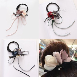 ponytail tools NZ - 2019 Rose Flower Pearl Hair Braider Magic French Bun Maker Head Band Ball Donut Device for Girl DIY Hair Accessories Tools
