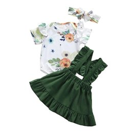 uk clothes Australia - UK Newborn Baby Girl 0-18M Floral Romper Jumpsuit Skirts Clothes Set Outfit Headband