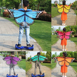 jungen mode kleider großhandel-2019 Neue Mädchen Junge Kinder Fee Flügel Schmetterlings Abendkleid Up Kostüm Party Pretend Fashion Butterfly Wings spielen