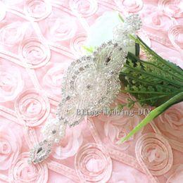$enCountryForm.capitalKeyWord Australia - 3pcs lot Handmade beaded DIY Crystal Beaded Rhinestone Applique for Sashes Fascinators Headbands Apparel Wedding Bridal Trim Garter Belt