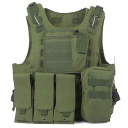 tactical combat vest black 2019 - Outdoors Sports Military Tactical Vest Molle Vest Outdoor Jungle Equipment Combat Hunting Vest with Pouch Assault Plate