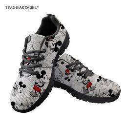 $enCountryForm.capitalKeyWord Australia - Twoheartsgirl Cute Leisure Women Sneakers Unique Cartoon Mouse Print Flat Shoes Lace Up Female Ladies Mesh Shoes Zapatos plus 41
