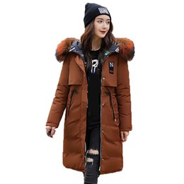 $enCountryForm.capitalKeyWord Australia - Winter Jacket Women Long Cotton Padded Outerwear Womens Winter Coat Parka With Colorful Fur Female Hooded Ladies Down Jackets
