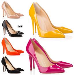 $enCountryForm.capitalKeyWord Australia - Red Bottoms Luxury Designer So Kate Styles High Heels Round Pointed Toes Pumps Women Wedding Dress Shoes 35-42 8cm 10cm 12cm