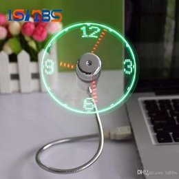 coolest gadgets Australia - USB Time Fan Gadget Mini Flexible LED Light USB Fan Time Clock Desktop Clock Cool Gadget Time Display High Quality