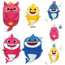 Backpack Fish Children Australia - Baby Shark Children Backpacks Cartoon 3D Animal Printed Kids Kindergarten Shark Money Outdoor Travel Bag LJJO6285