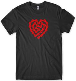 $enCountryForm.capitalKeyWord UK - Love Cycling Bike Chain Heart Design Mens Funny Unisex T-Shirt 2019 Summer New Fashion Brand Tshirt Solid Color