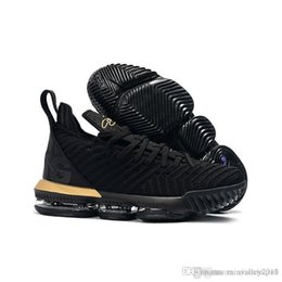 online retailer 6179a acfcb what the lebron 16 women basketball shoes for sale MVP Christmas BHM Oreo  black gold youth kids Generation mens sneakers with original box