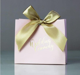 Wedding Favour Decor Australia - Wedding favors Candy box Gift Bags With Ribbon Chocolate Box Party Sweets Gift Favours Wrap Engagement Anniversary Diy Decor