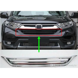 POUR HONDA HR-V 2015-2019 Nouveau Pare-chocs avant supérieur calandre Chrome Trim Paire Set