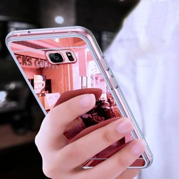 Samsung S6 Edge Mirror Case Australia - Mirror Case for Samsung Galaxy S10 S9 S8 Plus S7 S6 Edge S5 S4 S3 Note 9 8 5 4 3 iPhone X XS Max XR 8 7 6s 5s 5 4s TPU Silicone Phone Cover