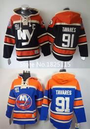 $enCountryForm.capitalKeyWord Australia - Factory Outlet, New Arrival #91 John Tavares New York Islanders Hoodie 100% Stitched Mens Islanders Black Blue Ice Hockey Hoodies Sweatshirt