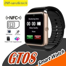 $enCountryForm.capitalKeyWord Australia - GT08 Smart Watch Bluetooth Smartwatches For Android Smartphones SIM Card Slot NFC Health Watchs for Android with Retail Box