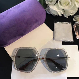 Circular Case Australia - 0106S Luxury Eyewear Sunglasses Large Frame Elegant Special Designer Oval Frame Built-In Circular Lens Top Quality Come With Case