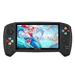 Newst high quality RS-08 Big Screen 7 Inch Double Rocker HD Handheld Game Console Nostalgic Retro Game Console 5pcs DHL on Sale