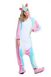 $enCountryForm.capitalKeyWord UK - Women Unicorn Pajamas Rainbow Long Sleeves Fleece Hooded Adults Home Wear Mascot Costumes Sleep Wear Night Party Wear Warm