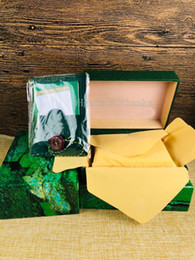 Luxury Square Watch Swiss Australia - Luxury Watch Brands BOXES SWISS The Green original Watch Box Submariner datejust oyster Green Inner And Outer Box Handbag for rolex 116660