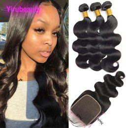 Malaysian hair closure piece online shopping - Malaysian Virgin Human Hair X7 Lace Closure With Bundles Pieces Body Wave Hair Wefts With By Lace Closure With Baby Hair