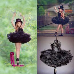 $enCountryForm.capitalKeyWord Australia - DEsigner Black Tiered Flower Girls Dresses For Wedding Short Tutu Appliqued Birthday First Communion Dress Tulle Girls Pageant Gowns