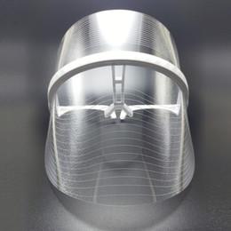 Venta al por mayor de LLEVÓ la Belleza Máscara Facial 3 Color Terapia Táctil Táctil Facial SPA Dispositivo de Tratamiento Anti Acné Eliminación de Arrugas