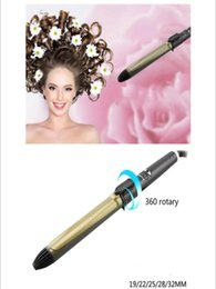 Electric Hair Rollers Wand Australia - professional electric auto rotary hair curler hairstyler curling iron wand waver automatic rotating roller wave styler roller curl