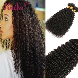 Wholesale Brazilian Curly Hairs Bundles Kinky Curly Weave Human Hair Extensions Natural Color Peruvian Malaysian Indian Remy Hair Wefts Ruiyu