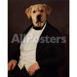 Painting Dog Portraits Australia - Wall Art dog portraits Oil Painting Thierry PonceletLe Magistrat Hand painted