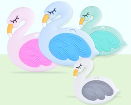 children baby teeth NZ - Baby Silicone Teether Molars Infants Cartoon Little Swan Molars Teeth Chews Toys Maternal and Child Supplies