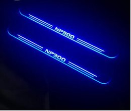 Door sill plate for nissan online shopping - 4pcs Acrylic Moving LED Welcome Pedal Car Scuff Plate Pedal Door Sill Pathway Light For Nissan Navara NP300