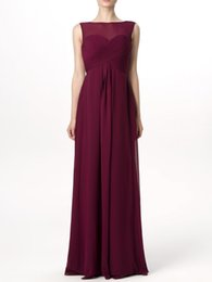 China 2019 spring style Burgundy tulle Tiers Ruffle V-neckElegant Fashion nice long sleeveless different color bridesmaid dress-flyingdress cheap long bridesmaid dresses different styles suppliers