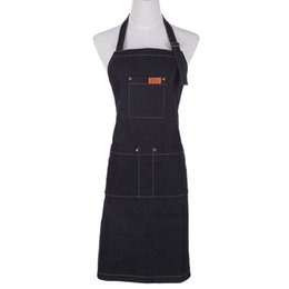 $enCountryForm.capitalKeyWord Australia - Fashion Lady Women Men Adjustable Denim Menswear Kitchen Apron For Cooking Baking Restaurant Pinafore Custom Logo T8190627 T8190627