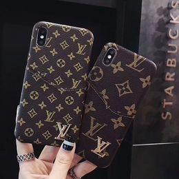 Top qualität luxus designer telefon case für iphone xxs xr xs max 7 7 plus 8 8 plus leder + tpu rückseite kartenhalter