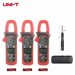Clamp Multimeter Ac Dc Australia - UNI-T Digital Clamp Meter Multimeter UT203 UT204 UT204A AC DC Volt Current Resistance Frequency Duty Cycle Diode Test Auto Range